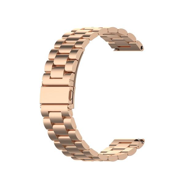 123Watches Polar Vantage M / Grit X drie stalen schakel beads band - rose goud