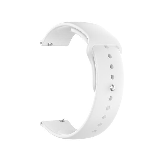 123Watches Polar Ignite silicone band - wit