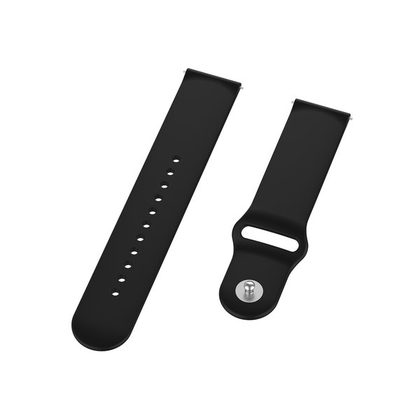 123Watches Bracelet en silicone Polar Ignite - Noir