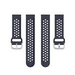 123Watches Bracelet en boucle en silicone Polar Ignite - bleu fonce