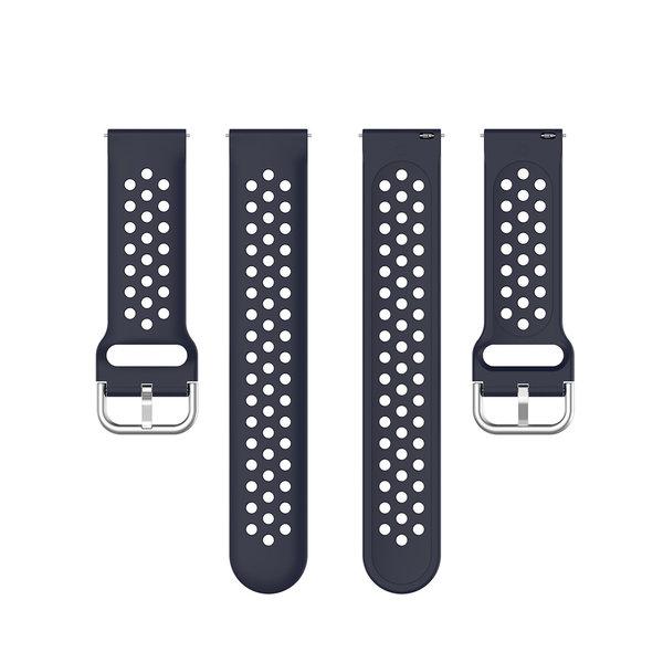 123Watches Polar Ignite Silicone double buckle strap - dark blue