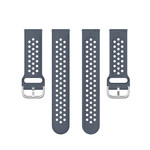 123Watches Polar Vantage M / Grit X Silicone double buckle strap - gray