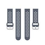 123Watches Polar Vantage M / Grit X silicone dubbel gesp band - grijs
