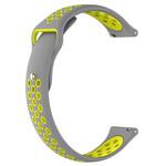 123Watches Polar Ignite Silicone double strap - gray yellow