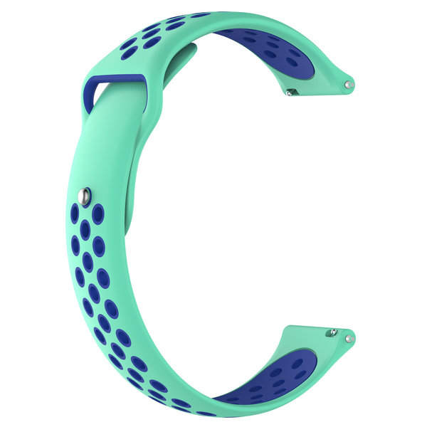 123Watches Polar Ignite Silicone double strap - teal blue