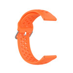 123Watches Polar Ignite Silicone double buckle strap - orange