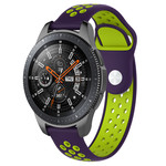 123Watches Polar Vantage M / Grit X silicone dubbel band - paars groen