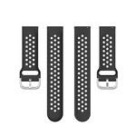 123Watches Polar Ignite silicone dubbel gesp band - zwart