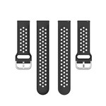 123Watches Polar Vantage M / Grit X silicone dubbel gesp band - zwart