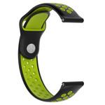 123Watches Polar Ignite Silicone double strap - black green