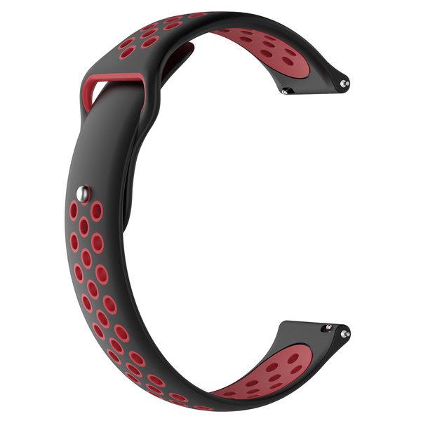 123Watches Polar Ignite Silicone double strap - black red