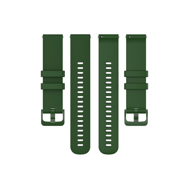 123Watches Polar Ignite silicone belt buckle band - green