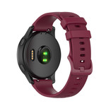 123Watches Bracelet en boucle en silicone Polar Ignite - vin rouge