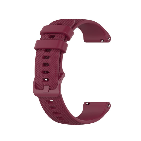 123Watches Polar Ignite silicone belt buckle band - wine red