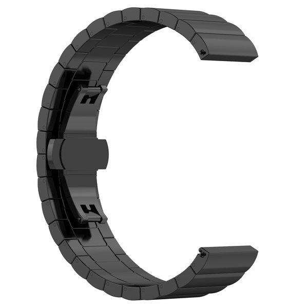 123Watches Polar Vantage M / Grit X stalen schakel band - zwart