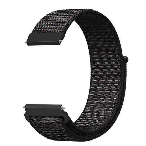 123Watches Bracelet Sport en Nylon pour Polar Ignite - mélange noir