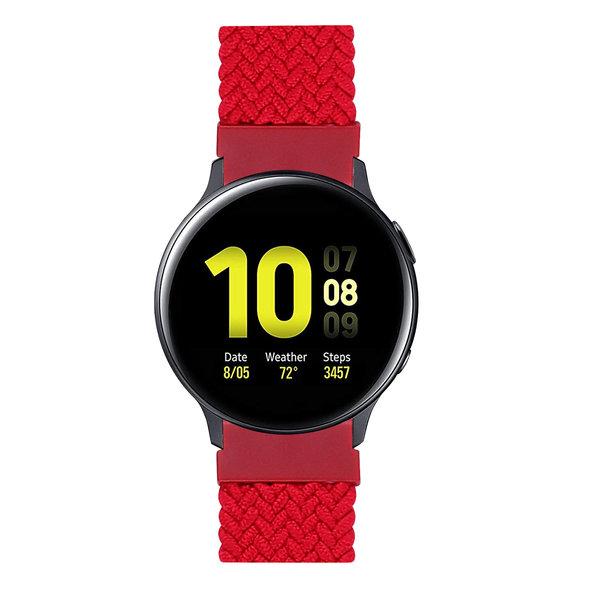 123Watches Samsung Galaxy Watch gevlochten solo band - rood