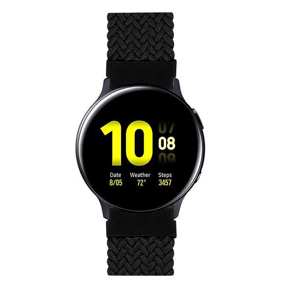 123Watches Samsung Galaxy Watch braided solo band - black
