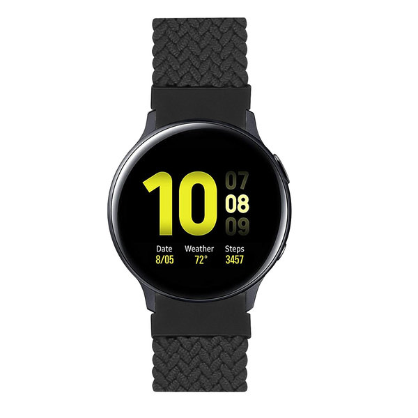 123Watches Samsung Galaxy Watch orchestre solo tressé - charbon
