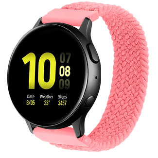 123Watches Samsung Galaxy Watch gevlochten solo band - roze punch