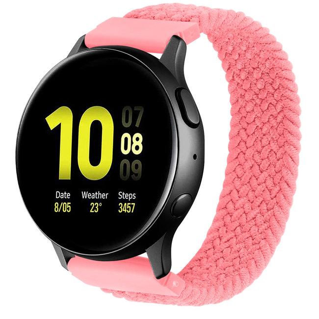 Merk 123watches Samsung Galaxy Watch gevlochten solo band - roze punch