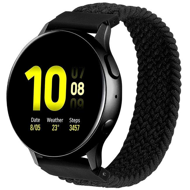 Merk 123watches Samsung Galaxy Watch gevlochten solo band - zwart
