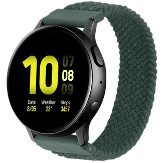123Watches Samsung Galaxy Watch braided solo band - inverness green