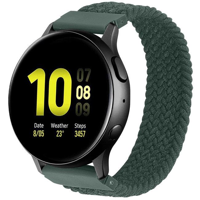 Merk 123watches Samsung Galaxy Watch gevlochten solo band - inverness groen
