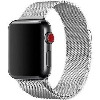 Merk 123watches Apple watch milanese band - zilver