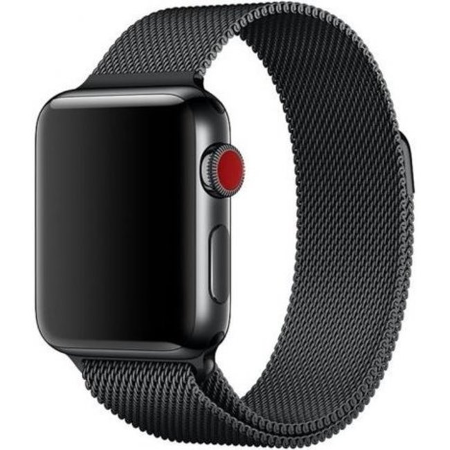 Merk 123watches Apple watch milanese band - black