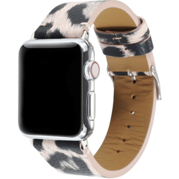 123Watches Apple watch leopard band - pink