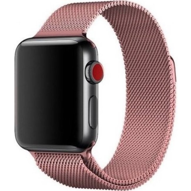 Merk 123watches Apple watch milanese band - rose rood