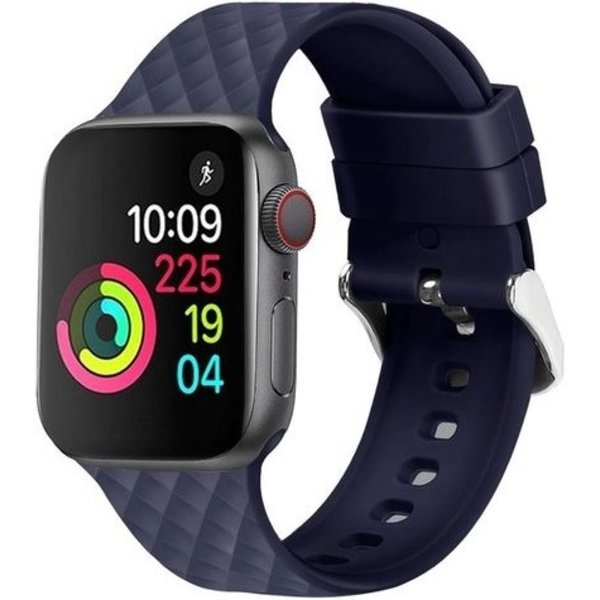 123Watches Apple watch rhombic silicone band - navy blue
