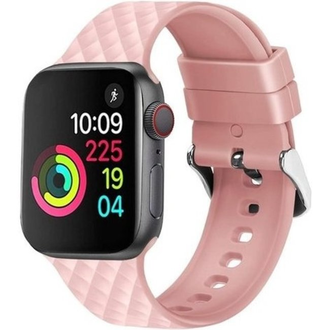 Apple watch rhombic silicone band - pink sand
