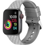 123Watches Apple watch rhombic silicone band - gray