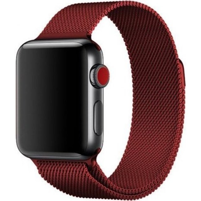 Merk 123watches Apple watch milanese band - red