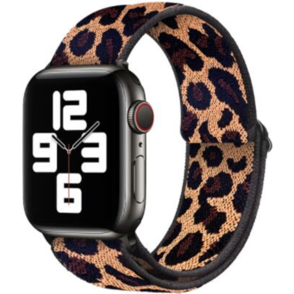 123Watches Apple watch nylon sport loop band - leopard
