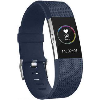 Merk 123watches Fitbit charge 2 sport band - middernacht blauw