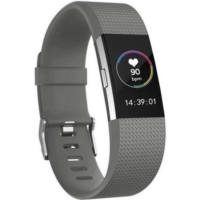 Merk 123watches Fitbit charge 2 sport band - grijs