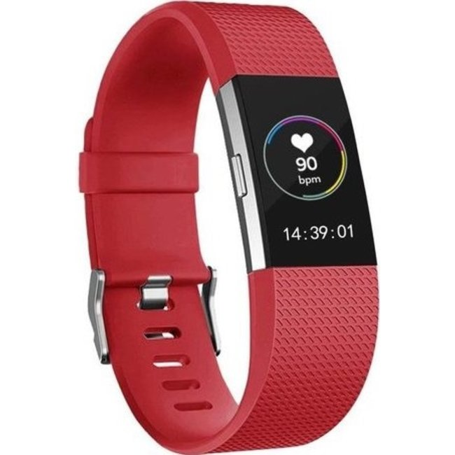 Merk 123watches Fitbit charge 2 sport band - rood
