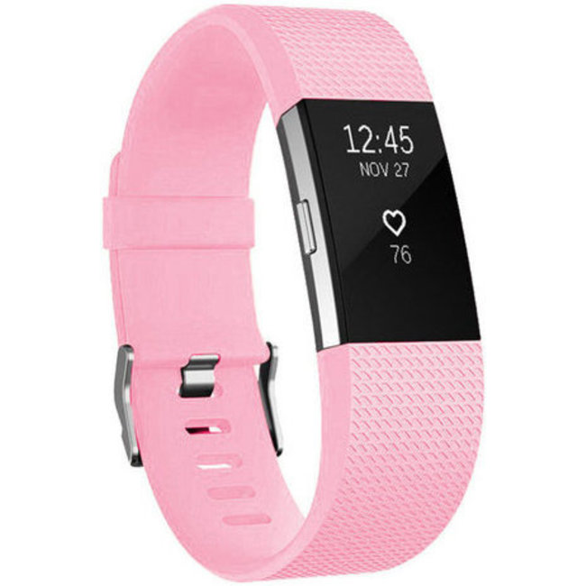 Merk 123watches Fitbit charge 2 sport band - peach pink