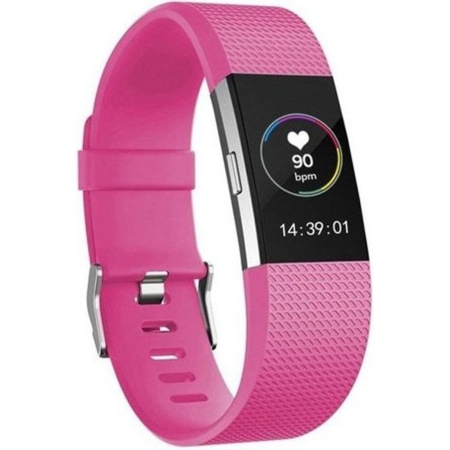 Merk 123watches Fitbit charge 2 sport band - rose