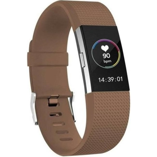 Merk 123watches Fitbit charge 2 sport band - bruin
