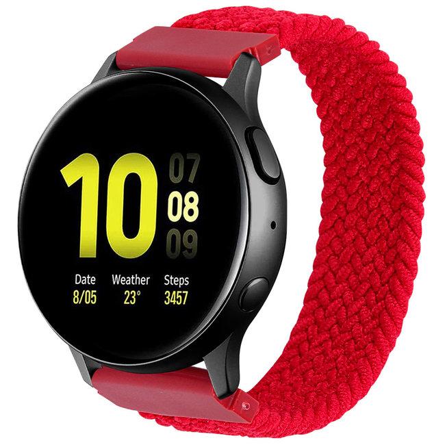 Merk 123watches Garmin Vivoactive / Vivomove gevlochten solo band - rood