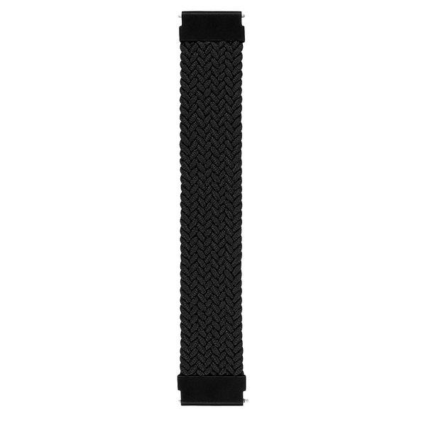 123Watches Garmin Vivoactive / Vivomove gevlochten solo band - zwart