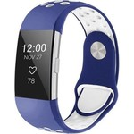 123Watches Fitbit charge 2 sport band - dark blue white