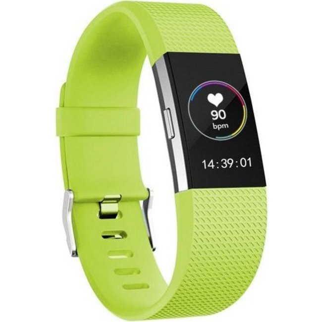 Merk 123watches Fitbit charge 2 sport band - groen