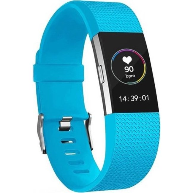 Merk 123watches Fitbit charge 2 sport band - blue