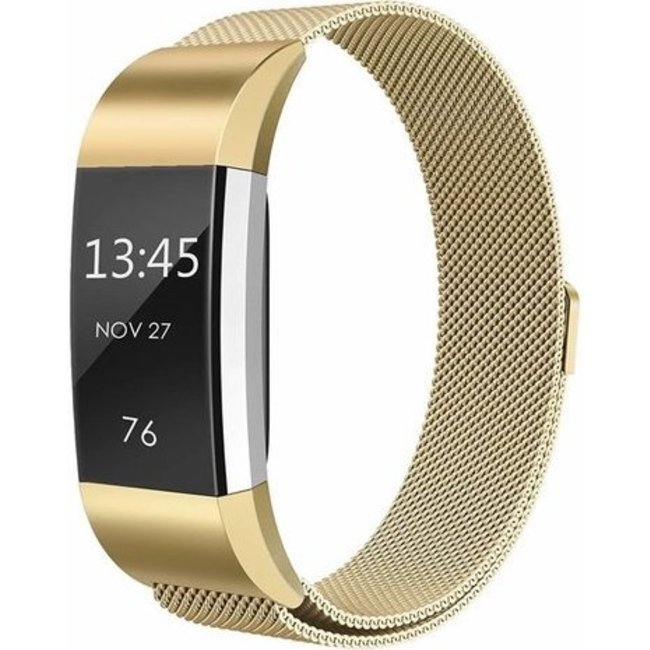 Merk 123watches Fitbit charge 2 milanese band - gold