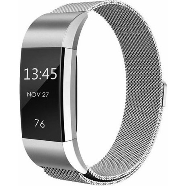 Merk 123watches Fitbit charge 2 milanese band - zilver